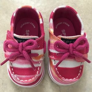 Sperry Top Sider Sz1 Baby Boat Shoes